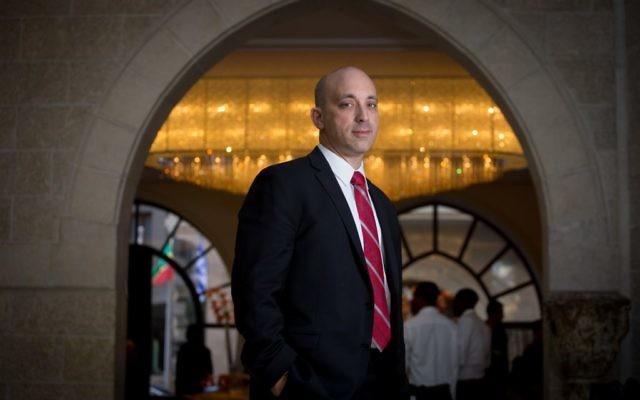 Jonathan Greenblatt, directeur-général de l'ADL (Anti-Defamation League)  (Crédit : Miriam Alster/FLASH90)