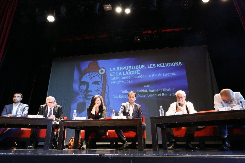 L'une des tables rondes des Universités d'Automne de la LICRA, au Havre, en octobre 2017. (Crédit : autorisation Le Droit de Vivre - LICRA)