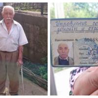 Pavel Preida, survivant rom de l'Holocauste en Moldavie et le document qui établit qu'il a été détenu dans un camp de concentration (Autorisation : Centre national rom de Moldavie)