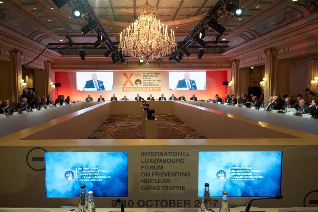 Forum annuel Luxembourg contre le nucléaire, lors de la 10ème conférence annuelle à Paris le 9 octobre 2017. (Autorisation)