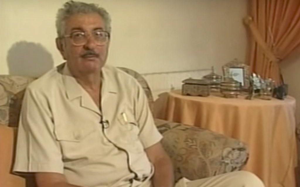 Abu Daoud, cerveau palestinien du massacre commis en 1972 pendant les Jeux olympiques de Munich, au cours duquel 11 Israéliens ont été tués (Capture d'écran : YouTube)