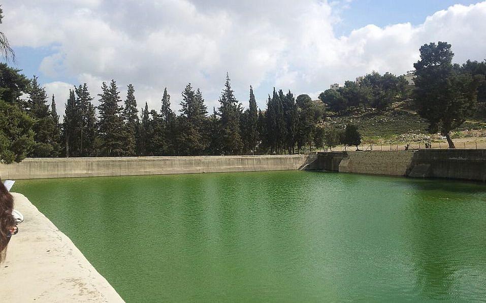 Une des piscines de Salomon en Cisjordanie, 2013 (Crédit : Roman Klozweg / Wikimedia Commons)