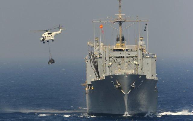 Un navire de l'US Navy dans le Golfe persique. Illustration. (Crédit : département américain de la Défense)