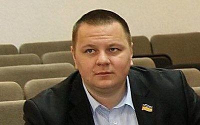 Volodymyr Bazelyuk, dirigeant du bureau de Vinnitsa du parti nationaliste ukrainien Svoboda (Liberté). (Crédit : Facebook)