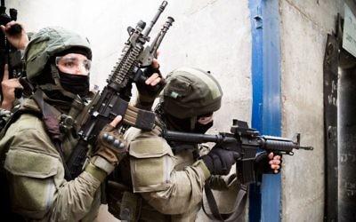Une unité de la police des frontières pendant un exercice au centre de formation de lutte contre le terrorisme de l'armée israélienne, près de Modiin. Illustration. (Crédit : police israélienne)