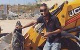 Une photo postée sur Facebook le 15 octobre 2017 par un ouvrier palestinien qui aura mené à son arrestation par erreur par la police israélienne (Autorisation)