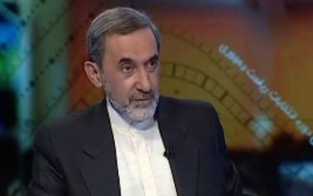 Ali Akbar Velayati , conseiller du Guide suprême iranien Ali Khamenei (Crédit : capture d'écran YouTube)