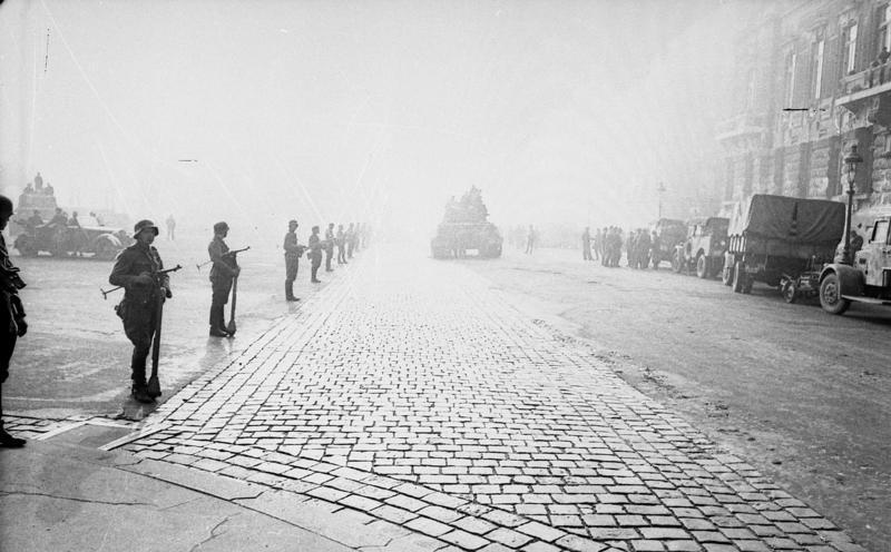L'armée allemande à Budapest en octobre 1944