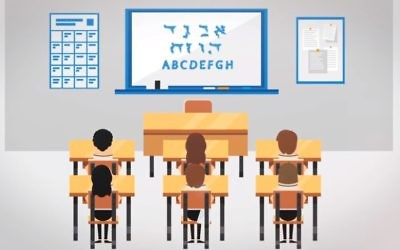 Capture d'écran de la campagne de collecte du Charidy Scholarship Fund pour aider les étudiants juifs. (Crédit : YouTube)