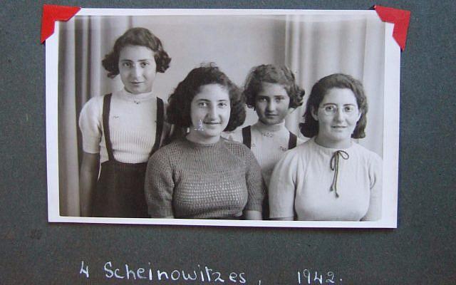 Les soeurs Scheinowitz qui ont été sauvées par Truus Wijsmuller durant la Shoah sur une photo datant de 1942 (Autorisation : Pamela Sturhoofd)
