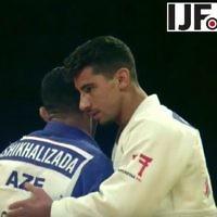Le judoka Tal Flicker, médaillé d'or lors du Grand Slam d'Abu Dhabi, le 26 octobre 2017. (Crédit : YouTube)