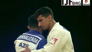 Le judoka Tal Flicker, médaillé d'or lors du Grand Chelem d'Abu Dhabi, le 26 octobre 2017. (Crédit : YouTube)