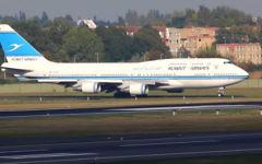 Photo d'illustration d'un avion de Kuwait Airways avant le décollage de l'aéroport de Berlin-Tegel en Allemagne au mois de septembre 2014 (Capture d'écran: YouTube)