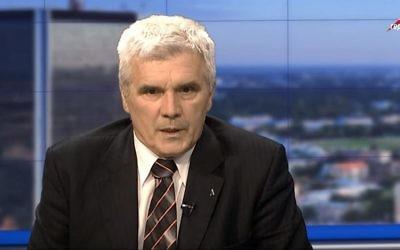 Tomasz Panfil, l'historien responsable de l'éducation à l'Institut polonais de commémoration national ou e  IPN lors d'une interview télévisée le 31 mai 2017 (Capture d'écran : YouTube)