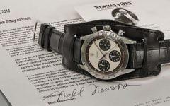La Rolex Dayton de Paul Newman, vendue aux enchère pour 17,8 millions de dollars. (Crédit : Phillips)