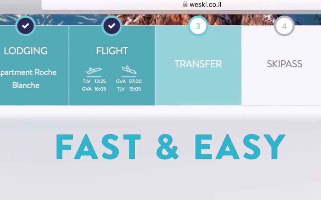 Le site WeSki permet de réserver tout un séjour au ski en une fois, du vol à la location de l'équipement, en passant par le logement et le forfait. (Crédit : capture d'écran YouTube)