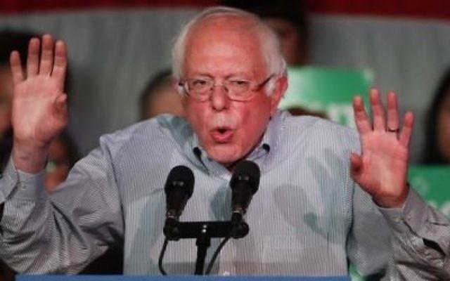 Le Sénateur Bernie Sanders (I-VT) s'adresse à une foule de supporters lors d'un rassemblement le 21 avril 2017 à Salt Lake City. (George Frey / Getty Images / AFP)
