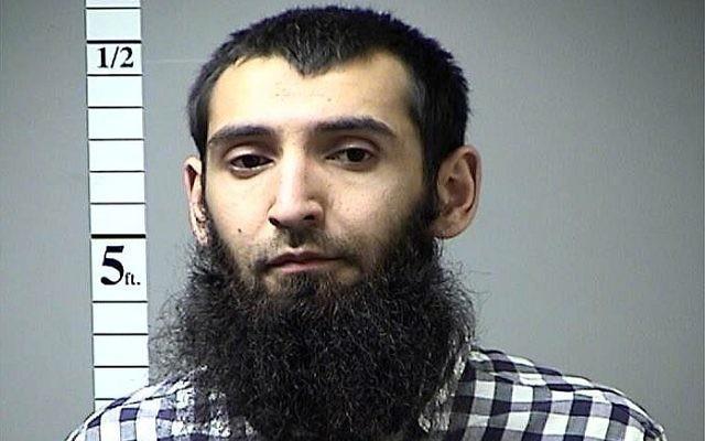 Sayfullo Saipov, suspect de l'attentat terroriste de New York, photographié par la police en 2016. (Crédit : CNN via St. Charles County, Mo)