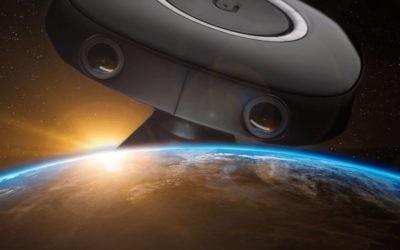 Image promotionnelle de la caméra 3D Vuze pour son utilisation dans l'espace à bord de la Station spatiale internationale (Crédit : Autorisation)