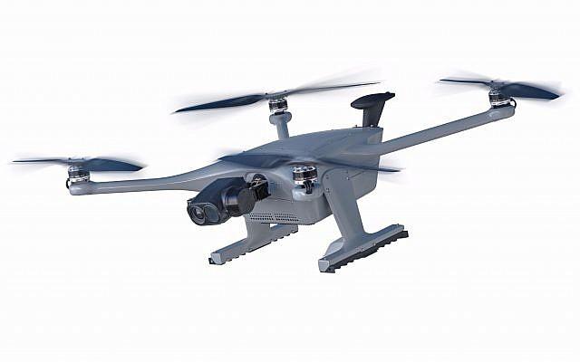 Percepto a dévoilé son drone Sparrow I pour les environnements industriels difficiles avec des exigences de sécurité élevées (Crédit : Autorisation)
