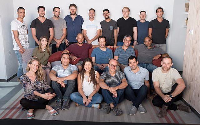 L'équipe de la start-up basée à Modiin Percepto (Crédit : Autorisation)