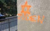 Photo illustrative d'un graffiti antisémite (Crédit : Autorisation de Michaela Brown)