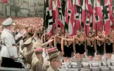 Capture d'écran du documentaire de David Korn-Brzoza sur les jeunesses hitlériennes (Crédit: France 2)