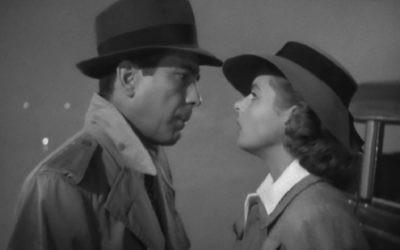 Humphrey Bogart et  Ingrid Bergman en 1942 dans Casablanca. (Crédit : Warner Bros. Films)