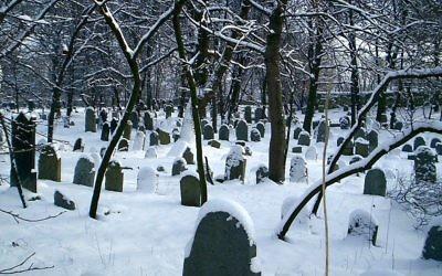 Le cimetière juif de Chrzanow, en Pologne. (Crédit :, Wikimedia Commons)