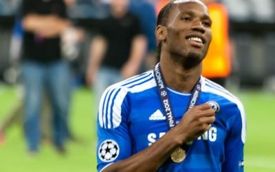 Didier Drogba, en 2012, après la victoire avec Chelsea de la Ligue des champions (Crédit: Wikimedia Comons/Magnus Manske)