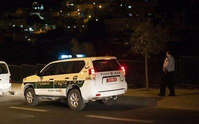 Illustration. Un véhicule de police. (Crédit : Yonatan Sindel/Flash90)