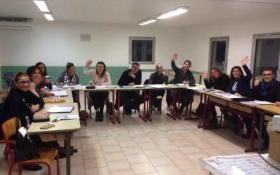 Une classe d'oulpan dans les locaux de la synagogue-école confessionnelle Yavné, dans le 13ème arrondissement de Marseille (Crédit : autorisation OSM).
