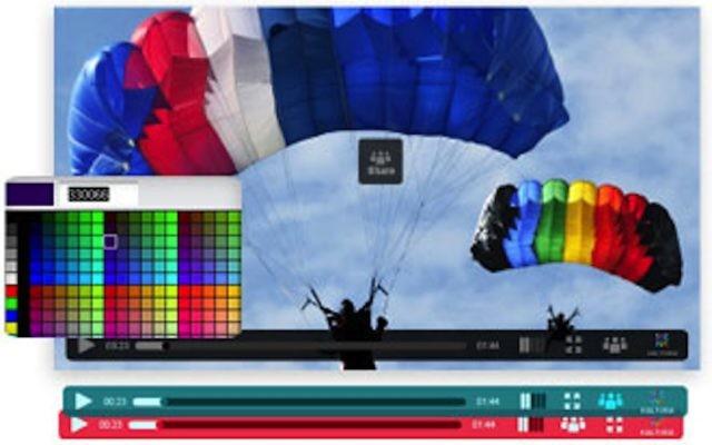 L'interface de la plateforme de création vidéo de Kaltura (Autorisation)
