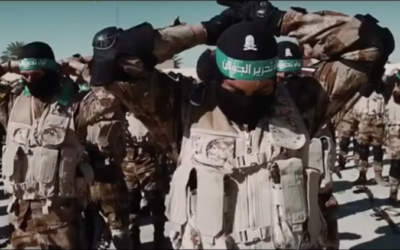 Des membres de la milice de la Brigade de Libération du Golan soutenue par l'Iran apparaissent dans une vidéo annonçant la formation du groupe en mars 2017. (Crédit : capture d'écran YouTube)