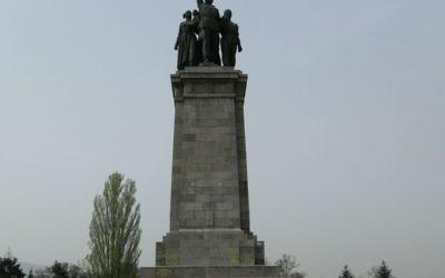 Le principal piédestal du monument de l'Union soviétique dans le centre de Sofia, capitale de la Bulgarie (Crédit :Wikipedia/Иван Иванов/CC BY)