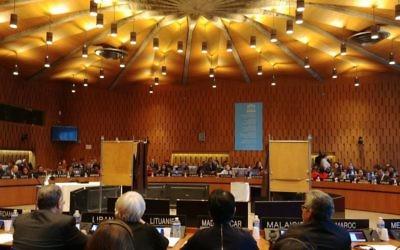 Le conseil exécutif de l'UNESCO vote pour son nouveau président, le 16 novembre 2017. (Autorisation)