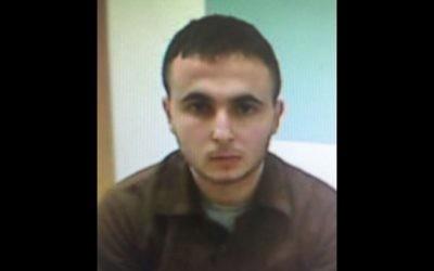 Baraa Issi, un terroriste présumé qui aurait poignardé un Israélien aux abords d'un supermarché de Cisjordanie en 2015 (Crédit : Shin Bet)