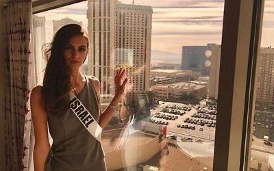 Adar Gandelsman, Miss Israël, à Las Vegas pour participer au concours de Miss Univers, en novembre 2017. (Crédit : Instagram)