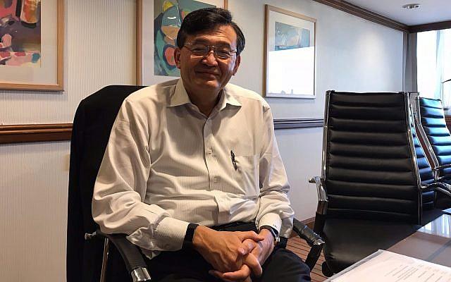 Lip-Bu Tan, président et CEO de Cadence Design Systems, Inc. à Tel Aviv, le 6 novembre 2017 (Crédit : Shoshanna Solomon/Times of Israel)