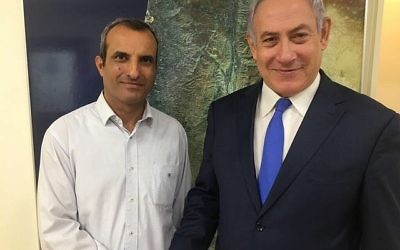 Benjamin Netanyahu et le président du conseil de Yesha, Hananel Dorani, le 7 novembre 2017. (Autorisation)