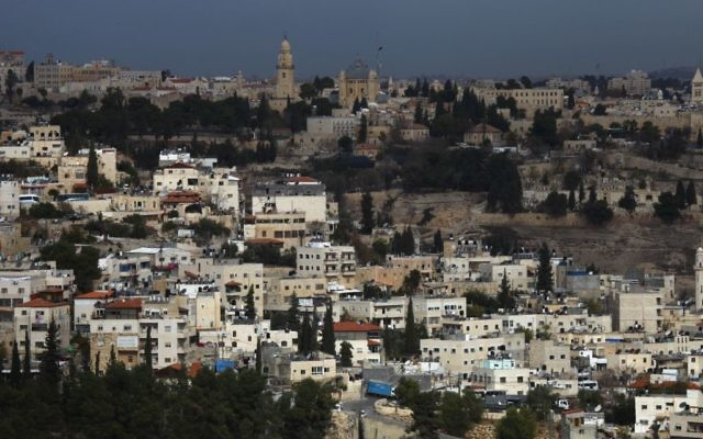 Illustration : Abu Tor, un quartier mixte qui accueille Juifs et Arabes dans le centre de Jérusalem, au sud de la Vieille ville, le 16 décembre 2009 (Crédit : Nati Shohat/Flash90/File)
