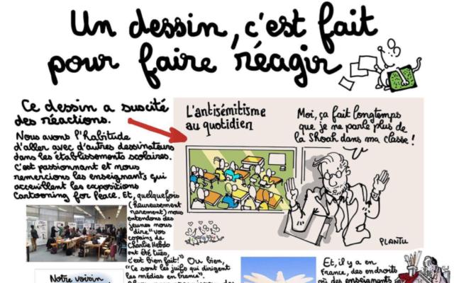Le dessinateur de presse Plantu a du faire une explication de texte après un dessin polémique (Crédit: capture d'écran Twitter/Plantu)