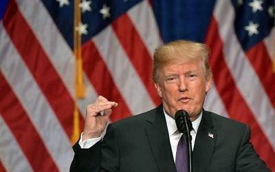 Le président américain Donald Trump parle de la nouvelle stratégie de sécurité nationale de son administration au Ronald Reagan Building et au International Trade Center à Washington le 18 décembre 2017. (AFP Photo / Mandel Ngan)