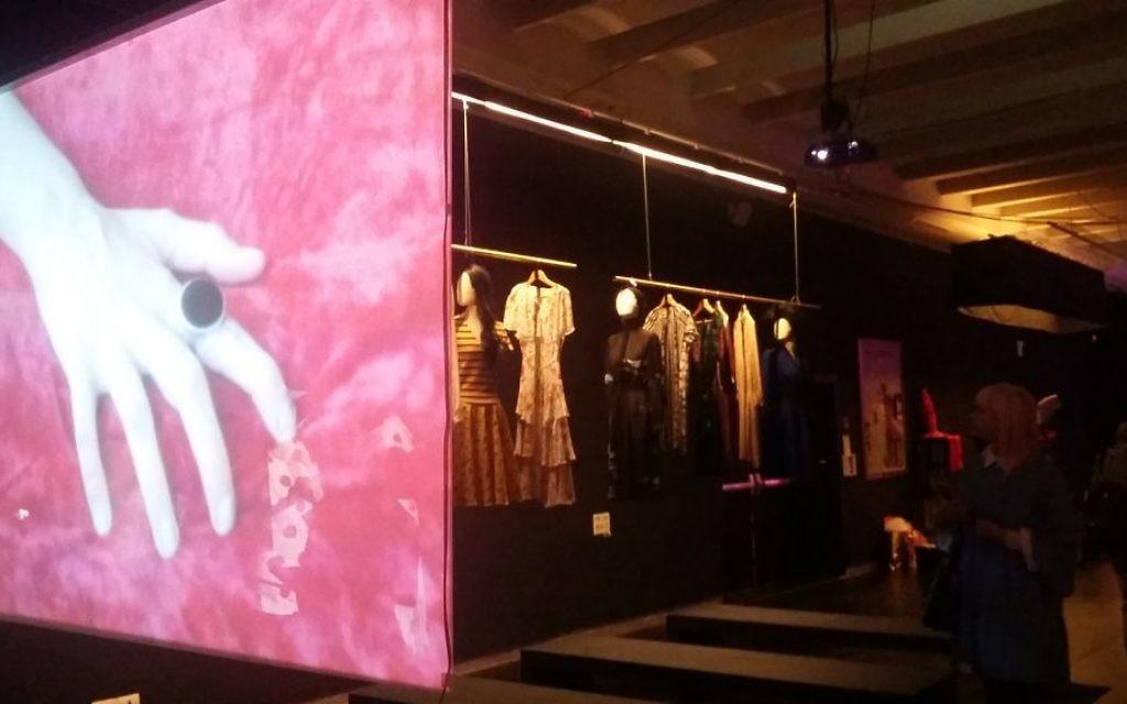Exposition « Je t'aime, Ronit Elkabetz » au Musée du Design de Holon. (Crédit : Dahlia Perez)