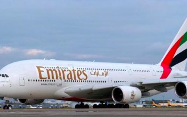Illustration. Un avion de la compagnie Emirates (Crédit : CC BY-SA, Wikimedia Commons)