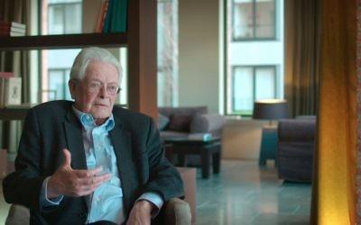 Jan Tollenaere au cours de son entretien avec Canvas sur les enfants des collaborateurs nazis (Autorisation/Canvas VRT)