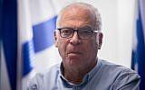 Le ministre de l'Agriculture, Uri Ariel, assiste à une réunion du parti HaBayit HaYehudi à la Knesset, à Jérusalem, le 11 décembre 2017 (Yonatan Sindel / Flash90)