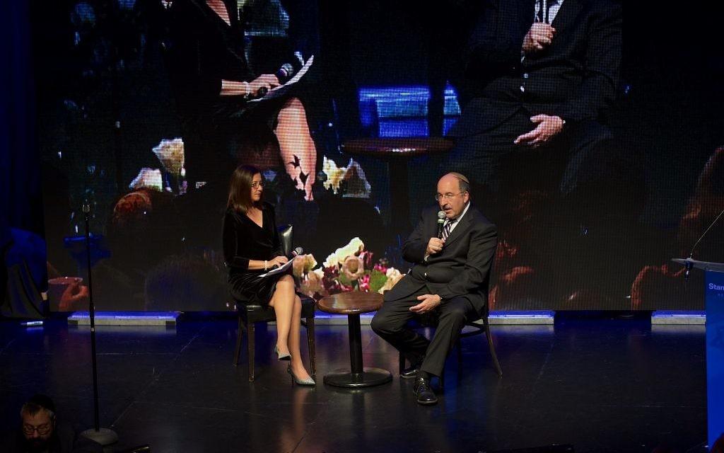 L'ambassadeur aux Nations unies Dore Gold le 14 novembre 2017 à  New York. (Crédit : Perry Bindelglass)