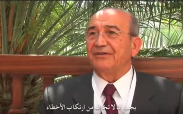 L'homme d'affaires palestinien Sabih al-Masri lors d'une interview, le 27 juin 2010 (Capture d'écran : YouTube via Wambda)