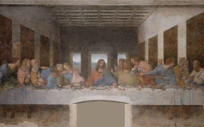 La Cène, Léonard de Vinci, 1494 (Crédit : domaine public, via Wikipedia)